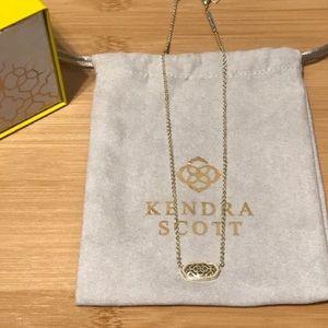 Kendra Scott Gold Elisa Filagree Necklace
